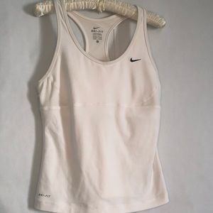 Nike dri-fit built in bra tank top women's large